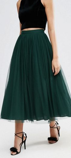 tulle midi skirt, this would look so pretty on you Alex! Probably wouldn't work with the boots tho. (MH)