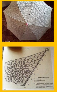 Crochet Pattern only with written instruction For Top Crochet Doily Diagram, Crochet Chart, Love Crochet, Crochet Motif, Crochet Designs, Crochet Doilies, Crochet Flowers, Crochet Lace, Lace Umbrella