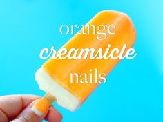How To: Orange Creamsicle Nails
