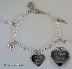 Angel Baby charm bracelet -- Emily Kay Design