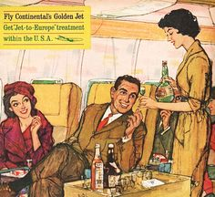 Continental Airlines - detail from 1961 ad.