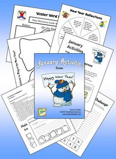 January Activities from Laura Candler's Teaching Resources - These seasonal activities will help make January an exciting and productive time for your class! In this packet you'll find several pages of directions followed by more than 25 pages of printables and answer keys. Many activities are suitable for partner or cooperative learning teams. Preview before purchasing to determine if these activities are appropriate for your students. $