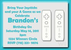 Wii Party Invite by ButtafliCrafts on Etsy $12 #YoYoBirthday