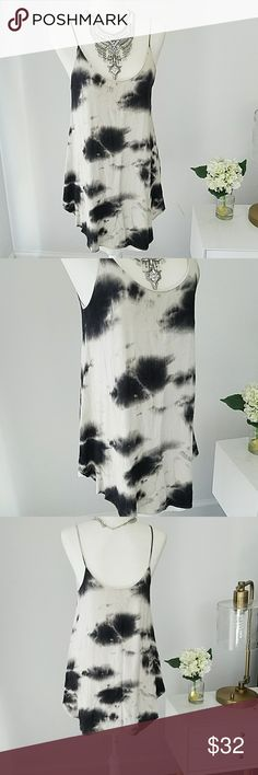 Audrey 3+1 Tie Dye Dress Perfect for those hit and humid days.  Hangs perfectly loose , and drops low enough to pair with your favorite strappy bralette. Used but in good condition. Audrey 3+1 Dresses