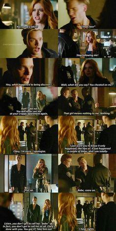 Clary & Jace - Katherine McNamara & Dominic Sherwood #shadowhunters #clace 1x07