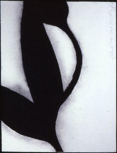 Donald Sultan Black tulip aug 30,1983. Drawing