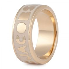 Marc Jacobs Logo Band Ring