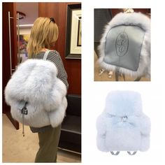 Discover recipes, home ideas, style inspiration and other ideas to try. Fur Backpack, Clueless Outfits, Fur Trim Coat, Teddy Toys, Fur Accessories, Stylish Backpacks, Fur Bag, Cute Bags, Fashion Bags