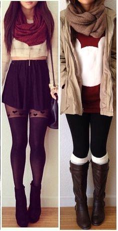 Cold season outfits