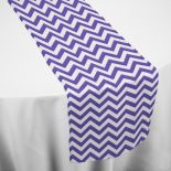 Check out Chair Covers & Linens' Purple Chevron Table Runner. Our Purple Chevron Table Runner is great for weddings, corporate galas and many other special events.