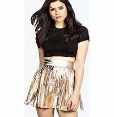boohoo Alina Metallic Pleated Skater Skirt - champagne Beat the winter blues with bodycon skirts in bright primary colours, or play with the punchy palette in pleated skirts to channel a cheerleader vibe. Continuing the sporty theme, midi skirts come with http://www.comparestoreprices.co.uk/skirts/boohoo-alina-metallic-pleated-skater-skirt--champagne.asp
