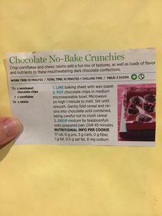 Chocolate No-Bake Crunchies