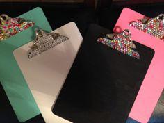 Glitter color Clipboard  by GlitterMyBoard on Etsy, $23.00