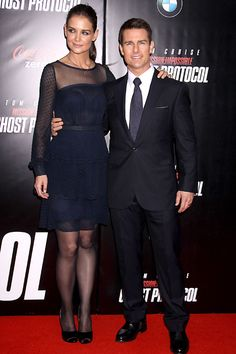 Tom Cruise and Katie Holmes at Ghost Protocol premiere