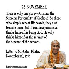 23 November  For full quote go to: http://quotes.iskcondesiretree.com/23-november/  Subscribe to Hare Krishna Quotes: http://harekrishnaquotes.com/subscribe/