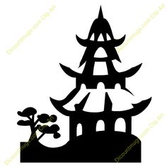 Chinese Crafts, Chinese Art, Pagoda Temple, Sunday School Decorations, Painting Templates, Asian Design, Chinoiserie Chic, Stenciling, Geisha