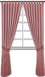 Image of finished simple unlined tab top curtains