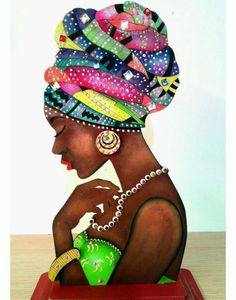 Best 12 African woman on canvas – SkillOfKing. African Artwork, African Art Paintings, African American Art, African Women, African Quilts, Afrique Art, Black Art Pictures, Black Love Art, Black Artwork
