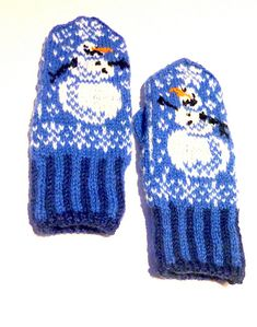 Ravelry: Olaf og Kalle votter /Little Snowman mittens Knitting Charts, Baby Knitting, Knitting Patterns, Crochet Patterns, Mittens Pattern, Knit Mittens, Knitted Gloves, Crochet Hand Warmers, Fair Isle Knitting