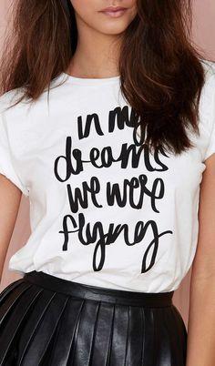 In dreams we were flying...