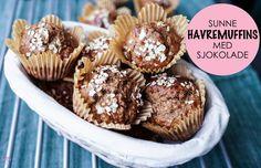 Lyst på noe enkelt, sunt og godt til frokost? Her har du oppskriften på sunne, enkle havremuffins med sjokolade. Bon apetitt!