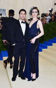 Joseph Altuzarra and Evan Rachel Wood in Altuzarra