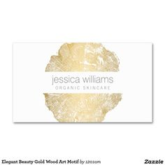 Elegant Beauty Gold Wood Art Motif Double-Sided Standard Business Cards (Pack Of 100)