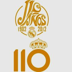 Real Madrid celebrate 110 years old put logo on new kits. 1902-2012