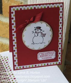 Stampin' with Nanna: Stamp-A-Stack for Christmas... Card 5