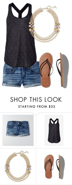 """""""Lys"""" by eryn-shimizu on Polyvore featuring American Eagle Outfitters, Express, Chloe + Isabel and Abercrombie & Fitch"""