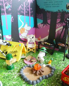 Camping now 🎵  緑の帽子をかぶったウッドストックに惹かれて、今さらながら、ハッピーキャンプ🎄⛺🚙 #moomin#snoopy#rement#happycamp#sanrio#dollhouse#story#mcdonald#nature#miniature#toystagram#toystory#intothewoods#letsgohappycamp #ムーミン#スヌーピー#ハッピーキャンプ#リーメント#サンリオ#ドールハウス#ストーリー#絵本#キャンプ#アウトドア