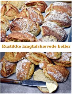 Langtidshævede boller - Dagens tallerken Cooking Bread, Bread Baking, Danish Food, Baked Goods, Love Food, Baking Recipes, Food And Drink, Yummy Food, Favorite Recipes