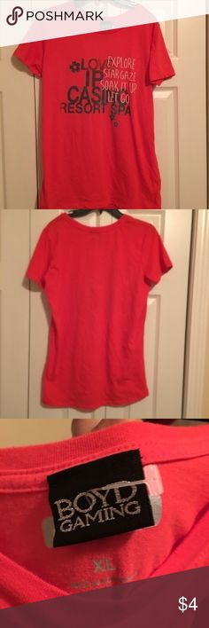 Casino Shirt Casino shirt, never worn. Tag says XL, but fits like junior's medium. Ships next day. Tops Tees - Short Sleeve