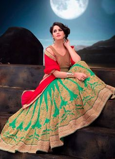http://www.sareesaga.in/index.php?route=product/product&product_id=20305 Work:Embroidered Patch Border Work Resham Work Zari WorkStyle:A - Line Lehenga Shipping Time:10 to 12 DaysOccasion:Bridal Reception Ceremonial Fabric:NetColour:Green For Inquiry Or Any Query Related To Product, Contact :- +91-9825192886, +91-7405449283