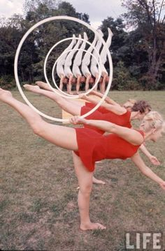 Gymnasts and hula hoops life magazine