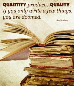 great writing wisdom from Ray Bradbury #quote