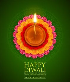 Burning Diya On Happy Diwali Holiday Background For Light Festival Of India Stock Vector - Illustration of flame, decorative: 123280847