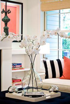 Coffee Table Decor... Tray Styling | Lynn Morgan Design.