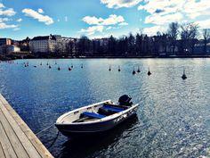 Kevät tekee jo kovasti tuloaan Siltasaareen. Helsinki 2014.