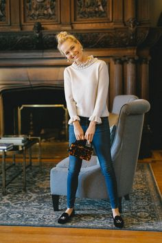 Cozied up by the fire for a late night round of Hearts. Preppy Winter Outfits, Dressy Casual Outfits, Girly Outfits, Classy Outfits, Chic Outfits, Fall Outfits, Fashion Outfits, Fasion, Preppy Wardrobe