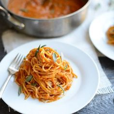We are going crazy for Tuscan Pumpkin Pasta Sauce!! It's super easy and can be made in about 20 minutes with pantry staples. Go grab the simple, healthy, delicious recipe and make this one soon: it's NEW recipe on the blog today. {naturally gluten- and dairy-free}