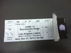 Los Angeles Lakers Sacramento Kings Mint Ticket 11 21 12 NBA Stub 2012 Kobe La | eBay