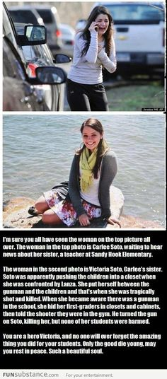 A true hero; an amazing woman.  Please spread this and pray for Carlee. I can't imagine how hard it would be to lose your sister, but pray that she may know peace. Her sister was a hero. by Shayla Brown