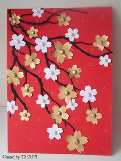 WT498 - Inspired Sakura Branches by DiHere - Cards and Paper Crafts at Splitcoaststampers