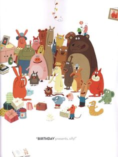 Delphine Durand (Gros-Lapin/Big Rabbit) Party with rabbit Illustration Art Drawing, Children's Book Illustration, Art Drawings, Illustrations Posters, Animal Illustrations, Cute Art, Art For Kids, Bad Mood, Characters