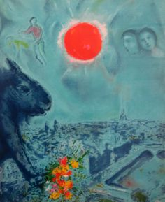 Red Sun Over Paris, Marc Chagall