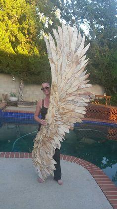 Paperbark Artowork - Wng made of Melaleuca Tree bark