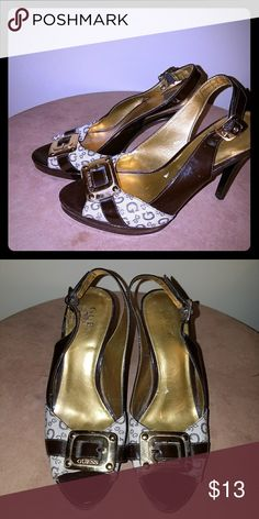Shoes Brown and tan Guess heels Guess Shoes Heels