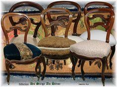 Celle-ci, on l'a déjà vu, on la connaît bien .... la chaise Louis Philippe:Réfections précédentes chaises Louis Philippe... et bien voici deux petites nouvelles prévues pour une chambre. A la base un rendez-vous juste pour une couverture (normal pour...