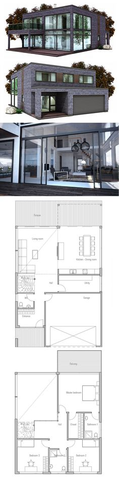 Plan de la casa, arquitectura moderna minimalista                                                                                                                                                                                 More